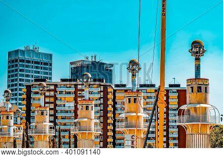 Beautiful Landscape Of The Urban View Barcelona, Catalonia, Spain.