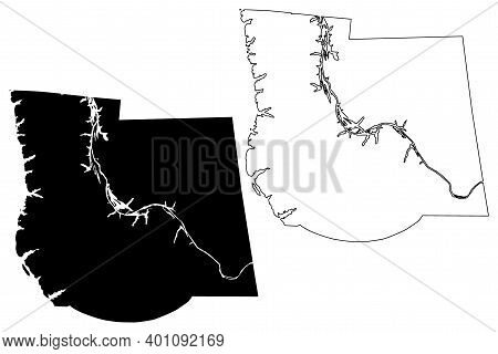 Stewart County, State Of Tennessee (u.s. County, United States Of America, Usa, U.s., Us) Map Vector