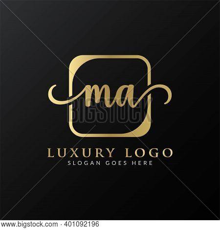 Initial Ma Letter Logo Design Vector Template. Luxury Letter Ma Logo Design
