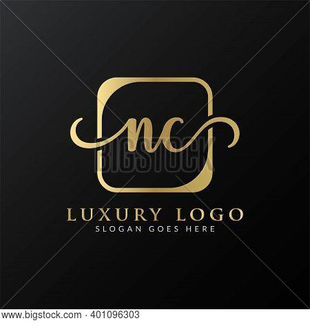 Initial Letter Nc Logo Design Vector Template. Nc Letter Logo Design