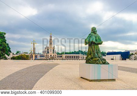 Sanctuary Of Our Lady Of Fatima With Basilica Of Our Lady Of The Rosary Catholic Church With Colonna