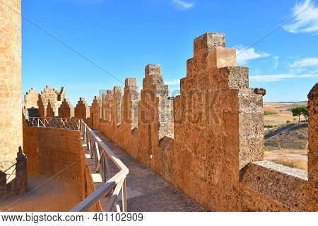 Walls And Battlements Of The Castle Of Belmonte.