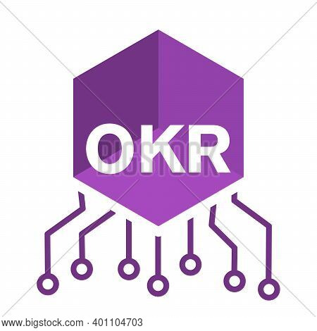 Okr Objectives And Key Results . Design Of Logo For The Website.