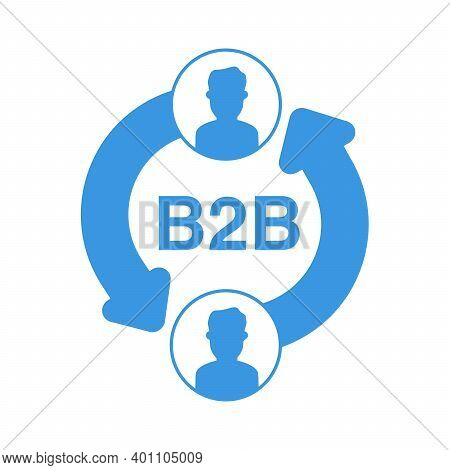 B2b Icon Isolated On White Background. Business-to-business.