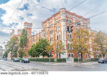 Vienna, Austria - August 30, 2020: Ministry Of Defense's Headquarters In The Rossauer Kaserne.