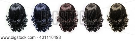Hair. Artificial hair. Wig on white background