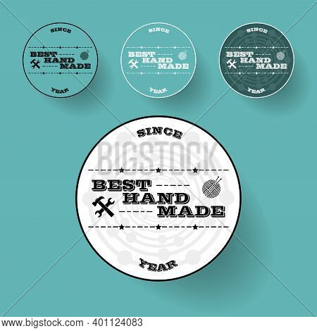 Stamps For Needlework, Handmade, Handicraft Products. Vector Illustration