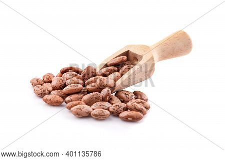 Pile Of Pinto Beans Isolated On White