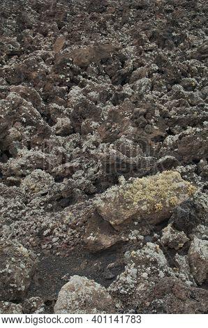 Volcanic Landscape In Los Volcanes Natural Park. Tinajo. Lanzarote. Canary Islands. Spain.