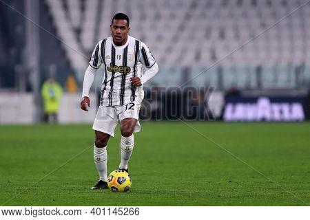 Torino, 22th December 2020. Alex Sandro Of Juventus Fc   During  The Serie A Match Between Juventus
