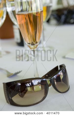 Sunglases And Champagne