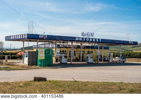 Central Bohemia, Czech Republic, 09-11-2020. Robin Oil Gas Station In Prague And In The Outskirts (b