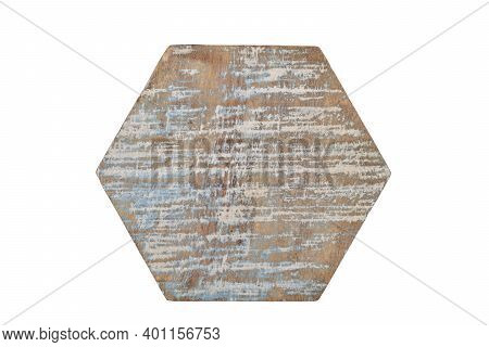Wood Coaster Isolated On White Background, Single Wooden Coaster Clipping Path