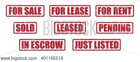 Real Estate Stamp Pack For Realtors And Real Estate Agents | Stamp Labels For Home Sales, Leases And