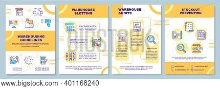 Warehousing Guidelines Brochure Template. Stockout Prevention. Flyer, Booklet, Leaflet Print, Cover