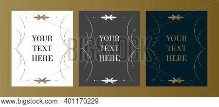 Retro Typographic Design Elements. Template For Design Invitations, Posters And Other Design. Flouri