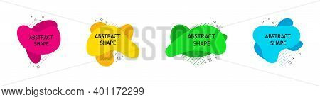 Abstract Shapes. Design Background. Fluid Banner For Poster. Modern Graphic Elements For Marketing A