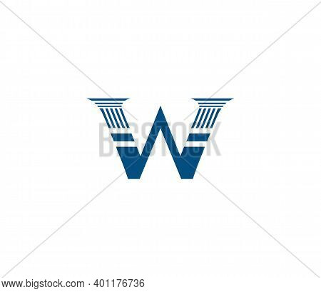 W Alphabet Law Firm Logo Design Concept