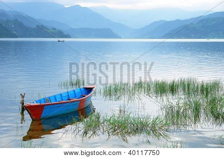 Boats In Fewa Lake