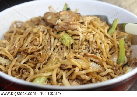Fried Noodles Are Common Throughout East Asia, Southeast Asia. Many Varieties, Cooking Styles, And I