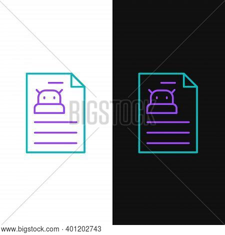 Line Technical Specification Icon Isolated On White And Black Background. Technical Support Check Li