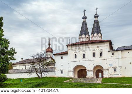 Holy Gates With Church In Ferapontov Monastery, Russia