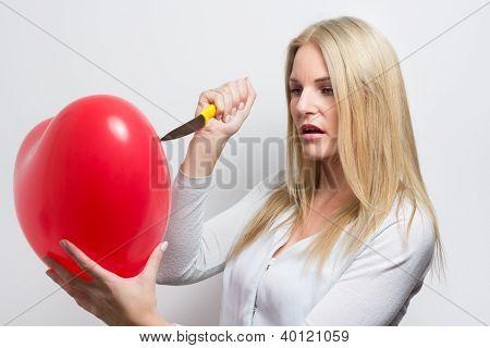 Woman Destroying Heart