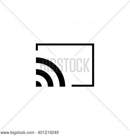 Screencast Icon Vector Isolated On White Background. Chromecast Symbol Illustration