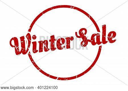 Winter Sale Sign. Winter Sale Round Vintage Grunge Stamp. Winter Sale