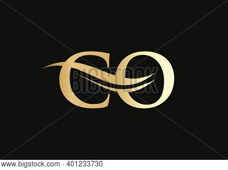Initial Monogram Letter Co Logo Design Vector. Co Letter Logo Design With Modern Trendy