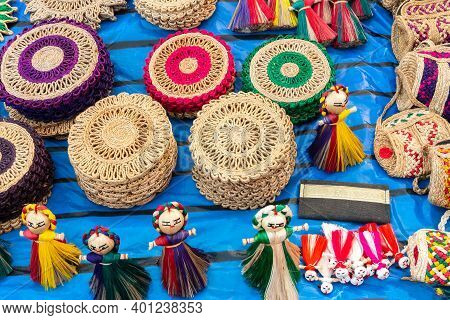 Handmade Jute Products On Display For Sale, Handicrafts Show During Handicraft Fair In Kolkata, West