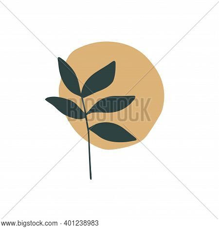 Abstract Trendy Botanical Vector Illustration. Art Modern Print, Wall Art, Boho Home Decor Poster. I