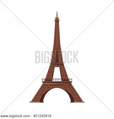 Eiffel Tower As Famous City Landmark And Travel And Tourism Symbol Vector Illustration