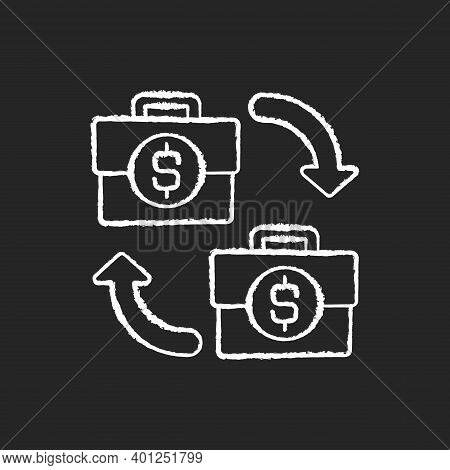 B2b Marketing Chalk White Icon On Black Background. Situation Where One Business Makes Commercial Pr