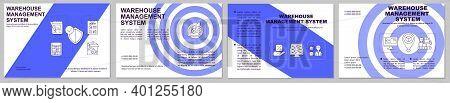 Warehouse Management Blue Brochure Template. Storehouse Organization. Flyer, Booklet, Leaflet Print,
