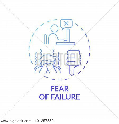 Failure Fear Concept Icon. Procrastination Reason Idea Thin Line Illustration. Avoiding Potentially