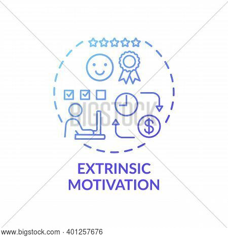 Extrinsic Motivation Concept Icon. Motivation Type Idea Thin Line Illustration. Reward-driven Behavi