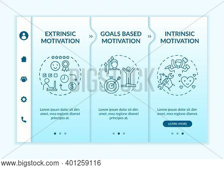 Motivation Variety Onboarding Vector Template. Goals Based Incentive. Doing Tasks Without External R