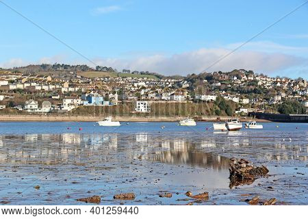 Reflections In The River Teign At Low Tide