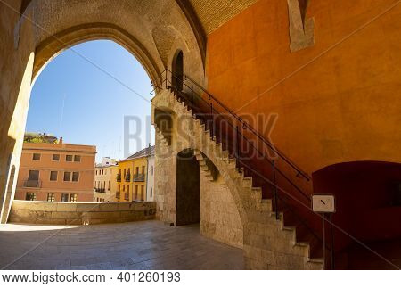 Valencia, Spain. October 11, 2020: North Interior On The First Floor Of The Quart Towers, Or Cuarte