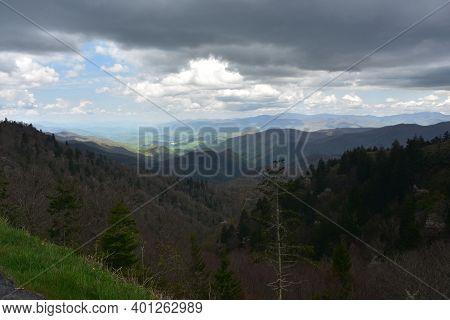 Beautiful View Of Thunder Struck Ridge In The Blue Ridge Mountains.