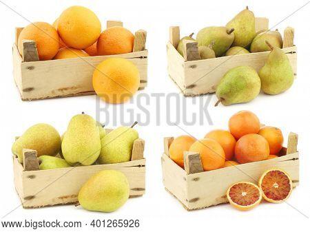 Fresh oranges,