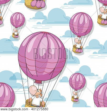 Goby. Balloon Travel. Funny Calf In A Balloon Basket. Bullish Pattern. Year Of The Ox. Baby Textiles