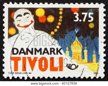 Postage Stamp Denmark 1993 Pierrot By Thor Bogelund, Poster