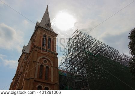 Reconstruction Of Notre-dame Cathedral Basilica Of Saigon, Officially Cathedral Basilica Of Our Lady