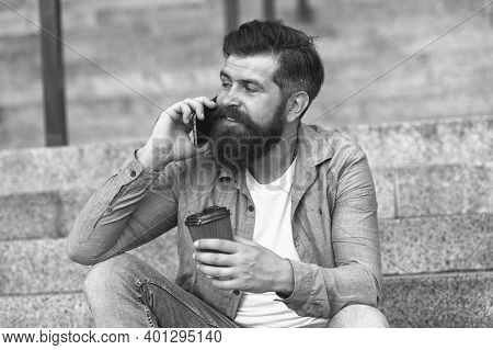 Glad To Hear. Hi Dear. Modern Urban Life. Bearded Man Phone Conversation. Mobile Conversation. Perso