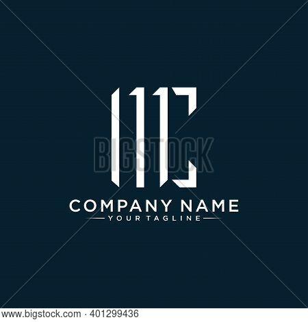 Initial Letter Mc Or Cm Minimalist Art Logo,vector Illustration