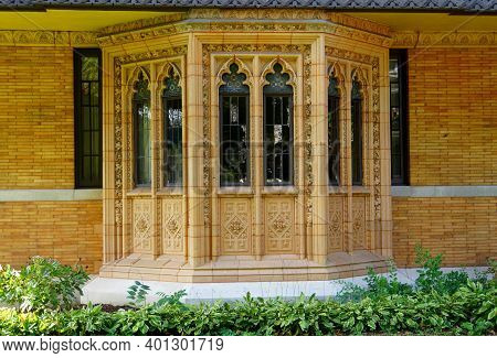 Chicago, Illinois, U.s.a - October 14, 2018 - A Window Of Moore-dugal Residence, A House Designed By