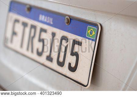 Cassilandia, Mato Grosso Do Sul, Brazil - 2020 12 23: New License Plate Standard Implemented In The