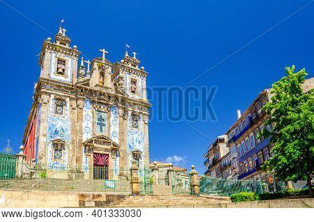 Saint Ildefonso Roman Catholic Church In Batalha Square In Porto Oporto City Historical Centre, Clea